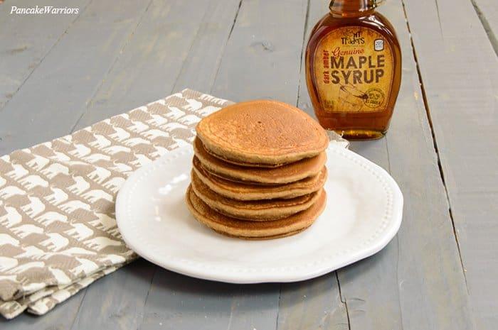 Spiced Apple Oat Pancakes