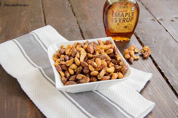Maple Vanilla Mixed Nuts   www.PancakeWarriors.com