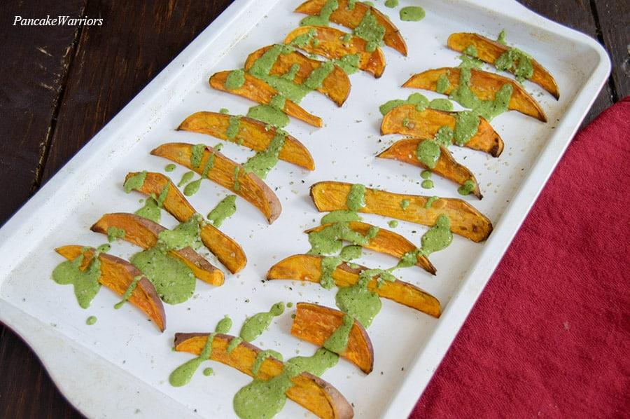 Oven Baked Sweet Potato Fries   www.PancakeWarriors.com