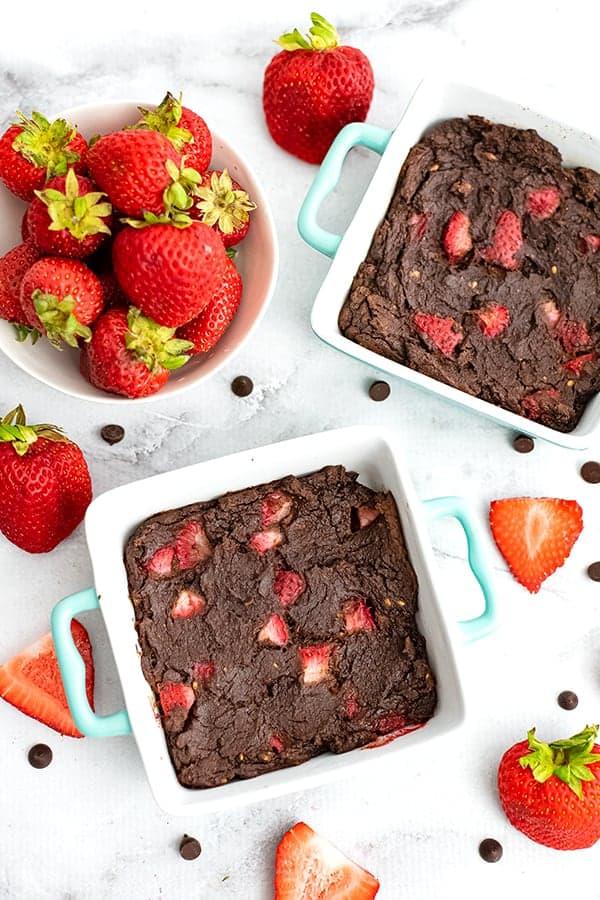 Strawberry Brownies | www.PancakeWarriors.com