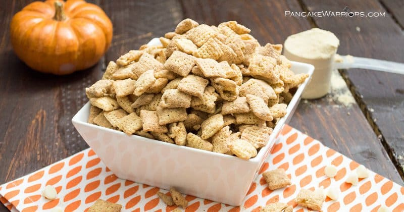 I have a confession. I can't stop eating this pumpkin spice protein puppy chow. Legit addicting. You have officially been warned. But don't fret - no sugar high to fall from!! I even have some hacks to make this entire recipe sugar free... you know you are excited.
