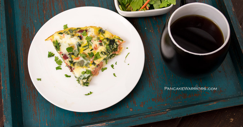 Start your day with this drool worthy smoked salmon fritatta. It's gluten free, grain free, dairy free, packed with protein, and so simple to make!   www.panckewarriors.com