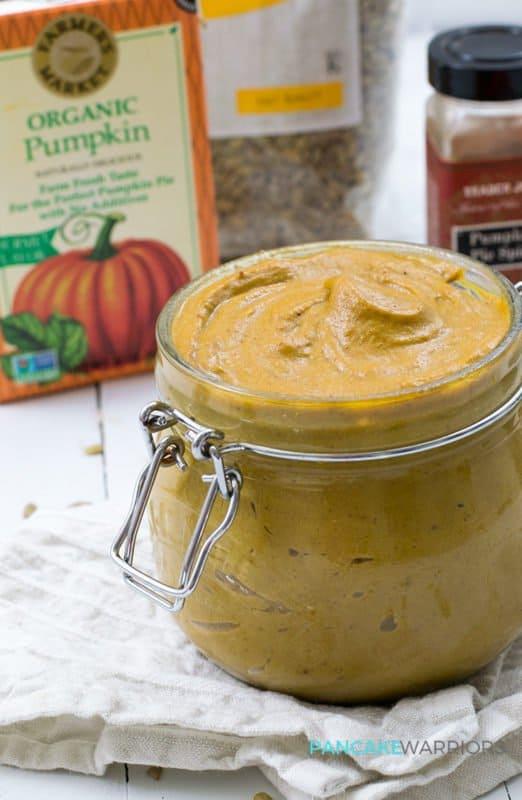 Pumpkin Sunflower Seed Butter - vegan, gluten free, paleo, and so easy to make! | www.pancakewarriors.com